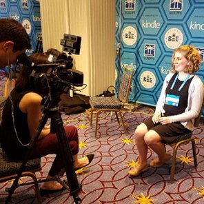 Lydia Bitterman interviewed by local TV