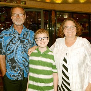 Ethan with Rob and Leigh Bortins